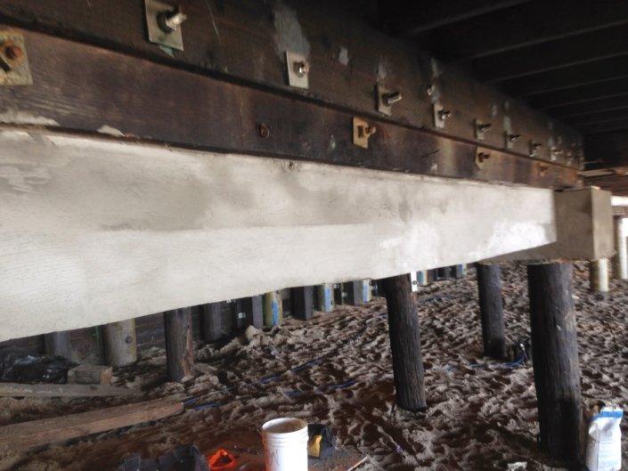 Concert grade beam repair